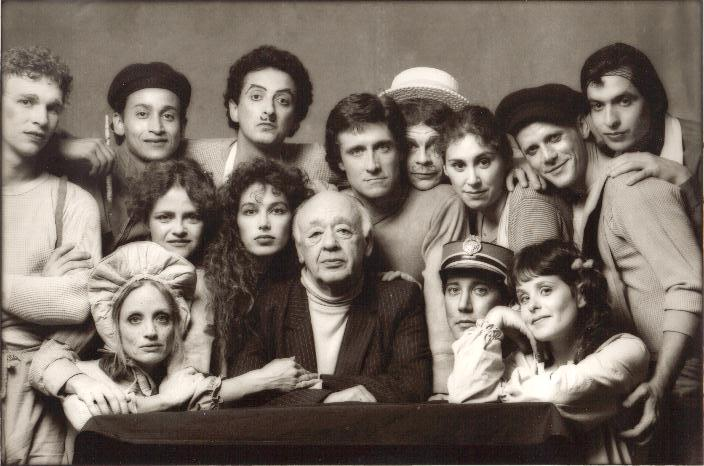 Cast of Ionesco's Tales at Stages in Hollywood with Eugene Ionesco in residence
